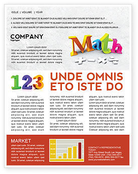 Math addition newsletter template for microsoft word for Math brochure template