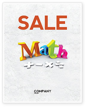 math brochure template - math addition sale poster template in microsoft word