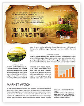 Life on the farm newsletter template for microsoft word for Agriculture brochure templates