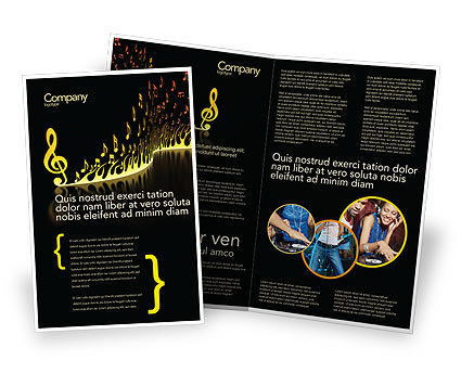 music brochure templates modern music brochure template design and layout download