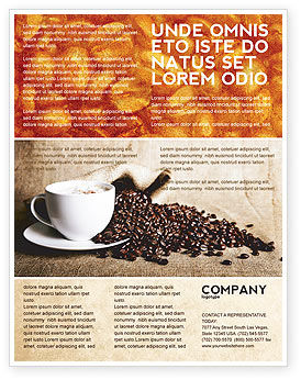 Coffee Break With Cappuccino Flyer Template #04820