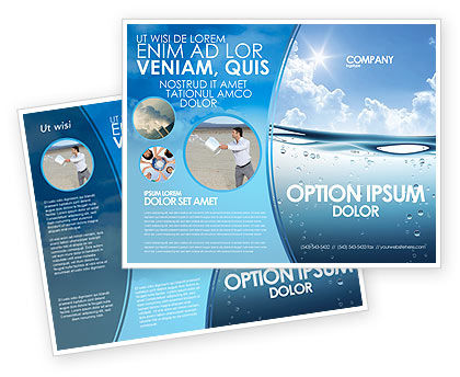Water Wave Brochure Template #04866