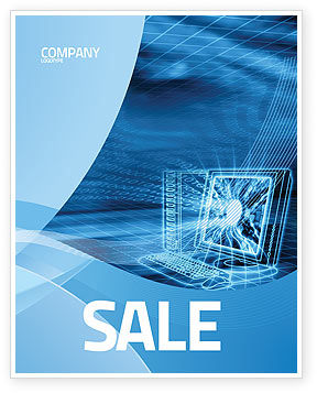 computer brochure templates - personal computer wired model sale poster template in