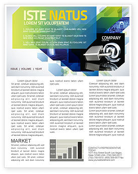 technology consulting newsletter template getty layouts