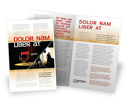 Film director flyer template background in microsoft word for Film brochure template