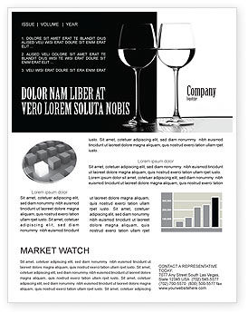 Black and White Newsletter Template #05226