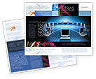 Social+media: Networking Connection Star Type Brochure Template #05256