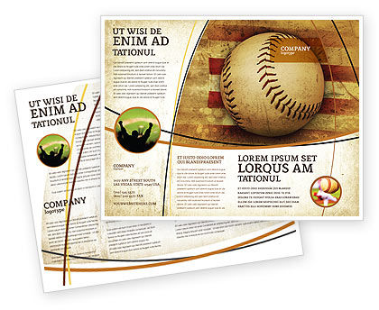 baseball brochure template american baseball brochure template design and layout