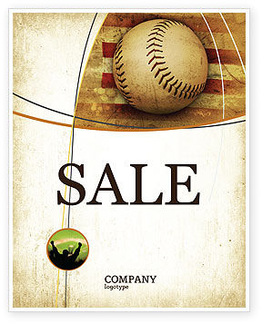 american baseball sale poster template in microsoft word publisher and adobe illustrator. Black Bedroom Furniture Sets. Home Design Ideas
