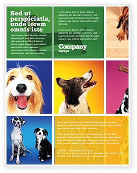 Dog Breed Flyer Template, Background in Microsoft Word, Publisher and