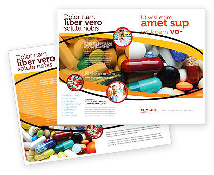 Drug treatment brochure template design and layout for Drug brochure template