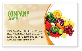 Fruits and Vegetables Business Card Template #05579