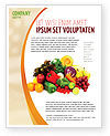 Fruits and Vegetables Flyer Template #05579 - small preview