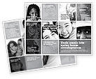 Social+media: Kids In Black And White Colors Brochure Template #05591
