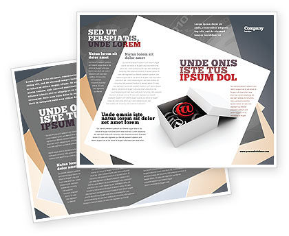 Email shipping brochure template design and layout for Email brochure template