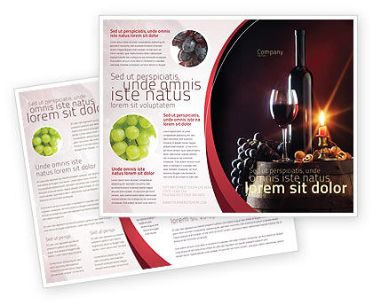 Wine bottle brochure template design and layout download for Wine brochure template free