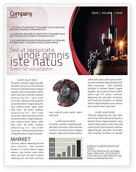 Wine bottle newsletter template for microsoft word adobe for Wine brochure template free
