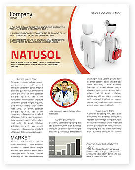 Patient and Doctor Newsletter Template #06021