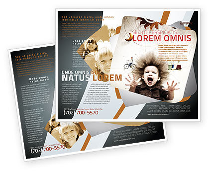 Kids and science brochure template design and layout download now 06059 poweredtemplatecom for Science brochure templates