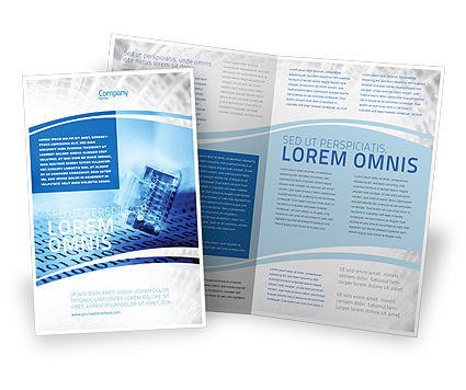 Digital life brochure template design and layout download for Electronic brochure templates