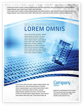 Digital life flyer template background in microsoft word for Electronic brochure templates