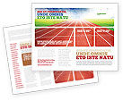 Sports: Race Track Brochure Template #06677