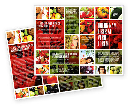 Nutrition Brochure Template #06856