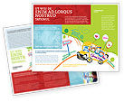 School Bus As Childish Picture Brochure Template