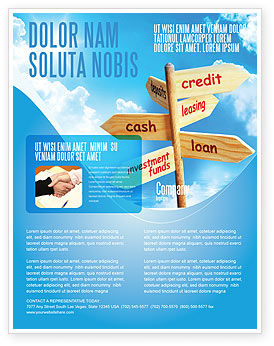 Credits And Loans Flyer Template Background In Microsoft