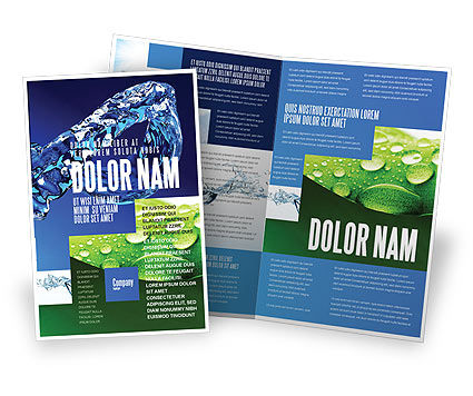Blue water brochure template design and layout download for Water brochure template