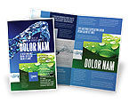 Nature & Environment: Blue Water Brochure Template #07546