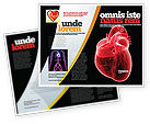 Model Of Heart Brochure Template