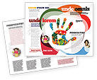 Colorful Hand Print Brochure Template