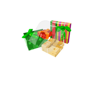 Gift Packages Vector Clip Art