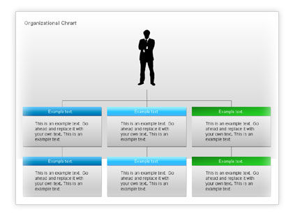 Organizational Charts with Text Boxes #00045