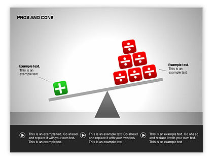 pros and cons chart template, Powerpoint templates