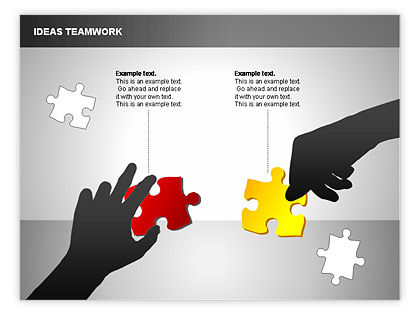 Puzzle Ideas Teamwork Diagrams For PowerPoint