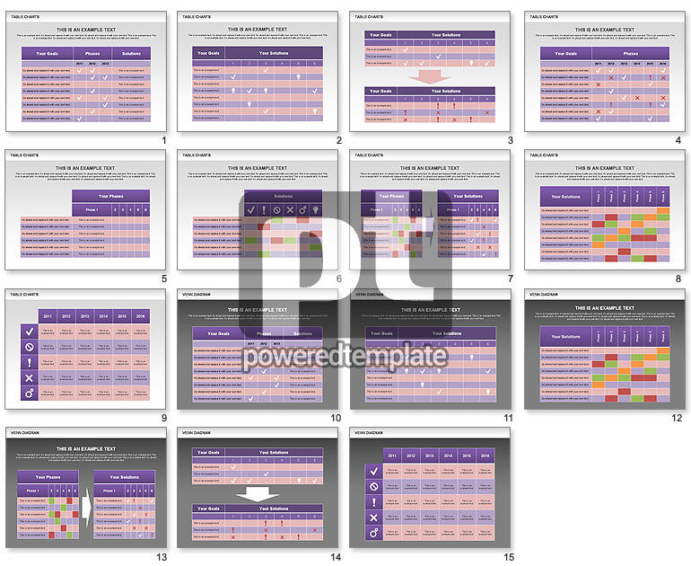 financial comparison table template powerpoint