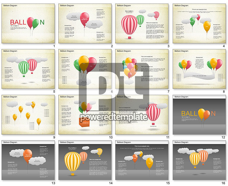 Balloon Diagram Template Balloon Diagram For Powerpoint