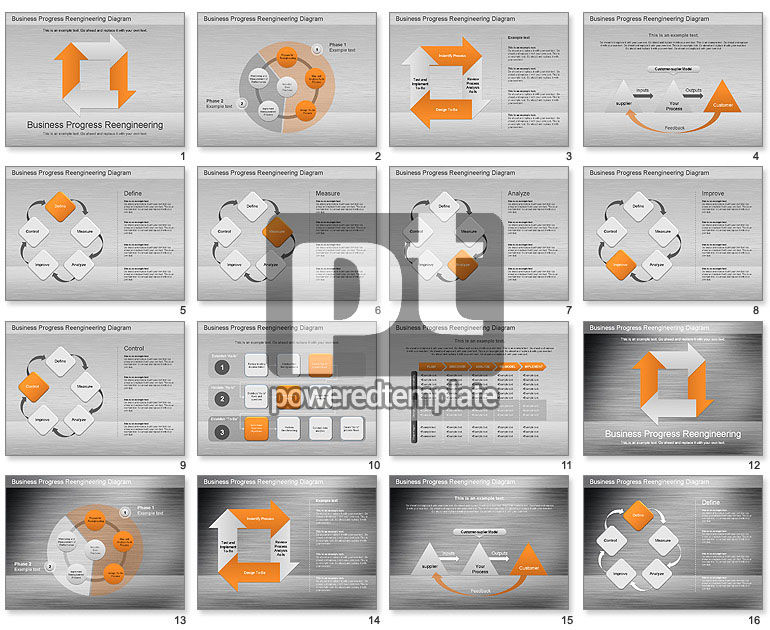 Business Process Reengineering Diagram for PowerPoint