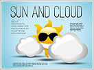 Sun and Clouds Shapes