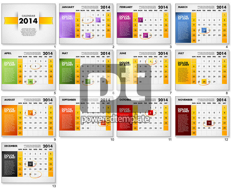 2014 calendar for powerpoint for powerpoint presentations