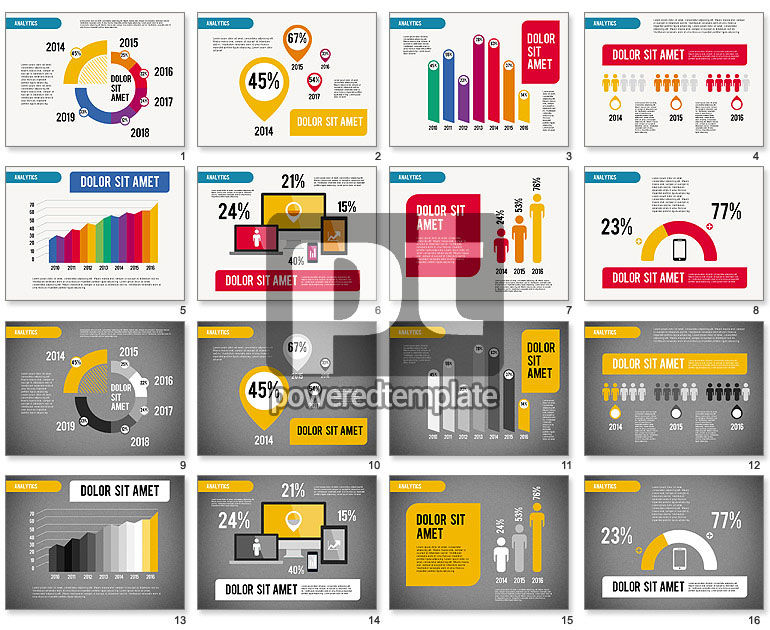 Analytic Infographics Presentation For Powerpoint