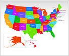 The USA PowerPoint Map