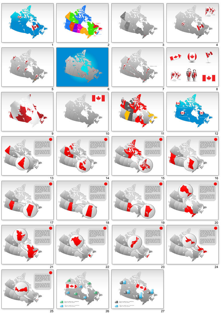 canada map powerpoint