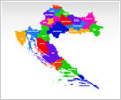 Croatia PowerPoint Map
