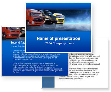 Logistics PowerPoint Template #00007