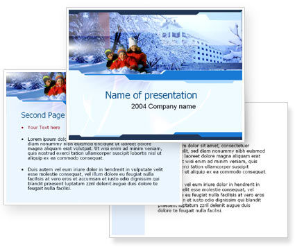 Free Winter PowerPoint Template #00016
