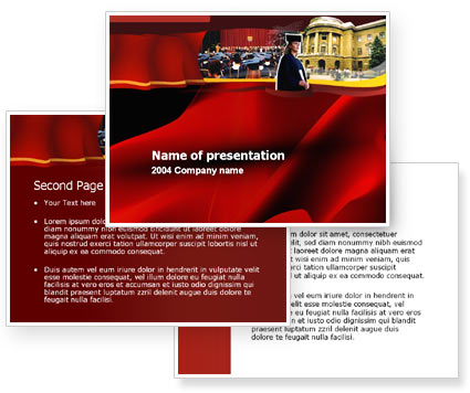 Alma-Mater Graduation PowerPoint Template #00023