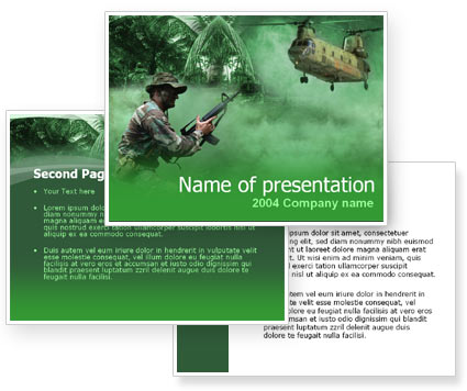 Military Campaign PowerPoint Template Backgrounds 00060 MrwgfOyw